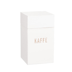 """Kaffeburk i trä med text """"Kaffe"""" White"""