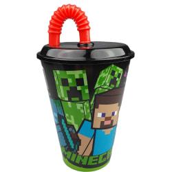 Minecraft mugg med sugrör Green