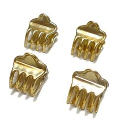 Hårklämma Guld 4-pack