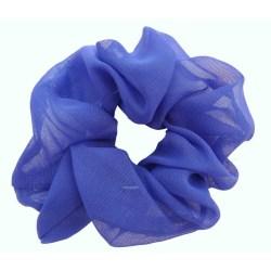 Hårsnodd blå chiffong