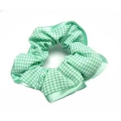 Hårsnodd Grön/Vit Grön