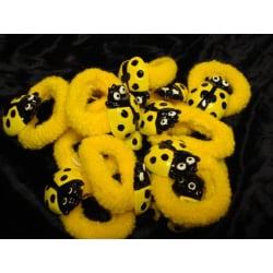 Hårsnodd Nyckelpiga gul  2-pack