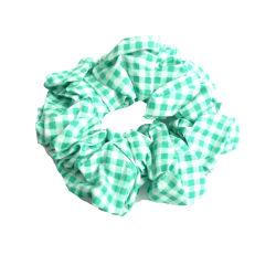Scrunchie pepitarutig grön/vit