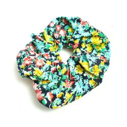 Stor Blommig Scrunchie