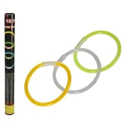 15-Pack - Glowsticks / Självlysande Armband - 3 olika färger