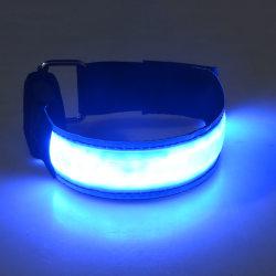 2-Pack - Armband LED / Reflex som Lyser - Reflexband - Blå Blå