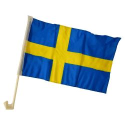 2-Pack - Bilflagga Sverige / Svenska Flaggan - För Bil