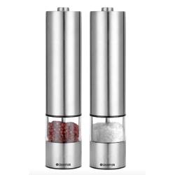 2-Pack - Elektriska Salt & Pepparkvarn i Rostfritt