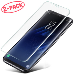 2-Pack Skärmskydd - Samsung Galaxy S8 Plus - Heltäckande Glas