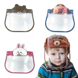 2-Pack Visir för Barn / Skyddsvisir - Skydd för Ansikte Mun Transparent Kanin