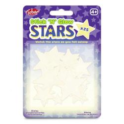 25-pack - Självlysande Stjärnor - Väggdekal - Dekal till Tak