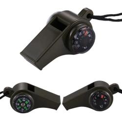 3-i-1 Visselpipa med Kompass & Termometer - Överlevnad