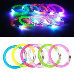 3-Pack - Glowsticks - Blinkande LED Armband / Ring / Reflex Grön