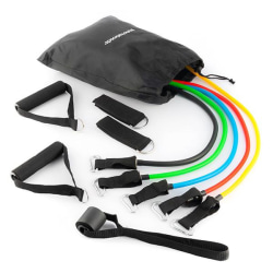 5-Pack Träningsband med Handtag / Motståndsband / Gummiband