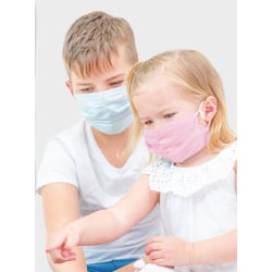 50-Pack - Munskydd Barn - CE Märkt - Skydd Mun - Mask Skyddsmask Ljusblå