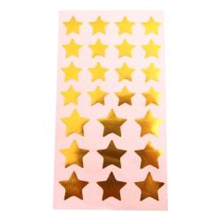 50-Pack - Stickers Stjärnor Guld