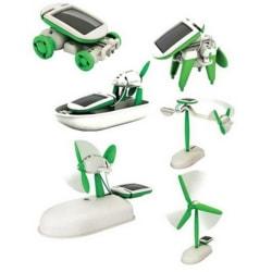 6 i 1 Soldriven Robot Kit Leksak - Lär barn om Solenergi
