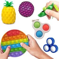 6-Pack Fidget Toys - Pop It, Stressboll, Magnetiska Ringar m.m.