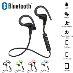 Bluetooth In-ear Hörlurar med Mikrofon - Trådlösa - Flera färger Svart