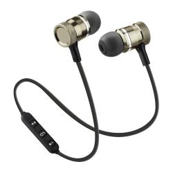 Bluetooth In-ear Hörlurar med Mikrofon - Trådlösa - Guld Guld