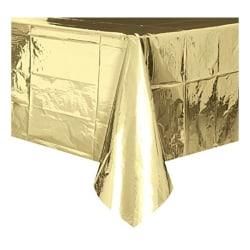 Plastduk / Bordsduk / Duk till Bord - Guld Metallic