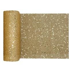 Bordslöpare Tjock / Bordsduk / Duk till Bord - Guld/Glitter Guld