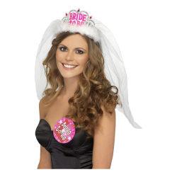 Bride to Be Tiara med Slöja - Möhippa