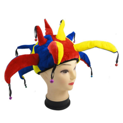 Clownhatt, Stor - Multifärgad - 56cm