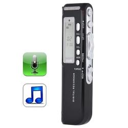 Diktafon & mp3-Spelare Röstinspelning - Inspelning av Ljud 8GB