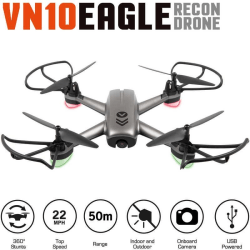 Drönare VN10 Eagle - Drone / Quadcopter med Kamera - (30 cm) grå