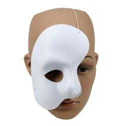 Fantom Mask / Halvt Ansikte - Halloween & Maskerad