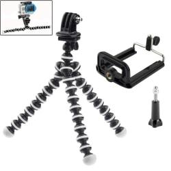 Flexibel Tripod Kamerastativ - Stativ för Mobil / GoPro (16 cm)