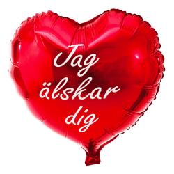 Folieballong Hjärta - Jag Älskar Dig - Ballong - 45cm