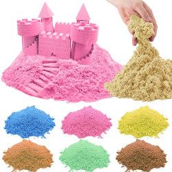 Formbar Sand / Kinetisk - Torkar aldrig ut - Flera färger Rosa