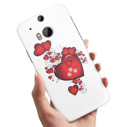 HTC One M8 - Skal / Mobilskal Hjärtan