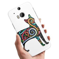 HTC One M8 - Skal / Mobilskal Konst Katt