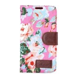 HTC One M9 Plånboksfodral Blommor Rosa pink