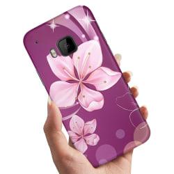 HTC One M9 - Skal / Mobilskal Vit Blomma