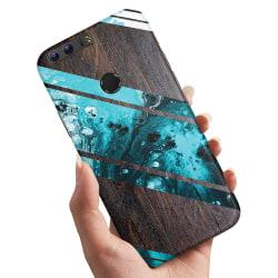 Huawei Honor 8 - Skal / Mobilskal Blått Konstmönster blue