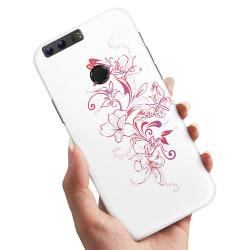Huawei Honor 8 - Skal / Mobilskal Blommor & Fjärilar