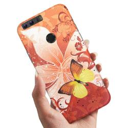 Huawei Honor 8 - Skal / Mobilskal Fjäril & Blomma