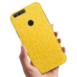 Huawei Honor 8 - Skal / Mobilskal Gult Mönster Gul
