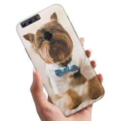 Huawei Honor 8 - Skal / Mobilskal Hund med Fluga