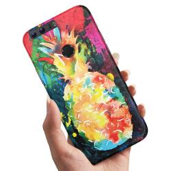 Huawei Honor 8 - Skal / Mobilskal Regnbåg Ananas
