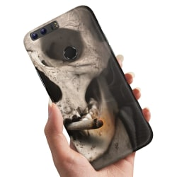 Huawei Honor 8 - Skal / Mobilskal Smoking Skull