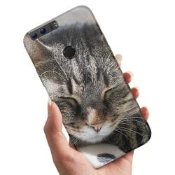 Huawei Honor 8 - Skal / Mobilskal Sovande Katt