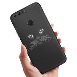 Huawei Honor 8 - Skal / Mobilskal Svart Katt Svart