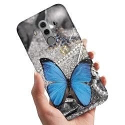 Huawei Mate 10 Pro - Skal / Mobilskal Blå Fjäril