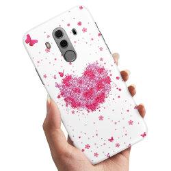 Huawei Mate 10 Pro - Skal / Mobilskal Blomhjärta