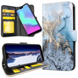 Huawei Mate 20 Pro - Plånboksfodral Konstmönster